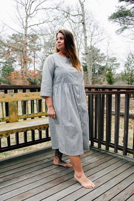Conrado Christina Shirtdress - Grey Stripe