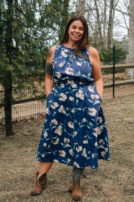 Conrado Helen Floral Dress - Blue Floral