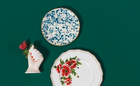 Bitossi Fasano Salad Plate - Blue