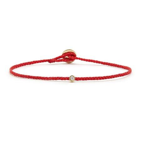 Scosha Diamond Bezel Bracelet - Scarlet