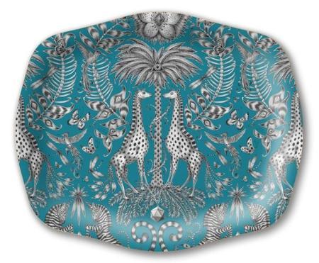 Emma J. Shipley Kruger Medium Arched Tray - Turquoise