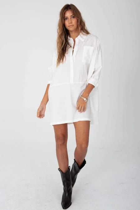 Stillwater The Shirting Mini Dress - White