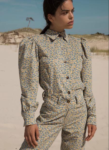 Tach Clothing Olenka Corduroy Shirt - Floral