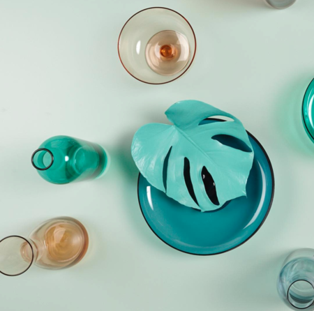 Bitossi Bottle and Vase - Turquoise
