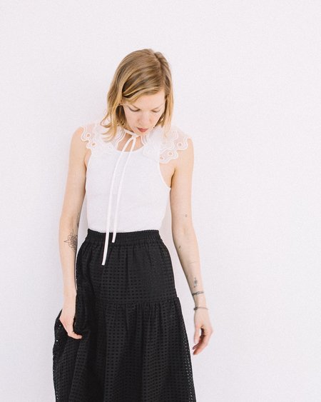 Just Female Waterloo Collar - White