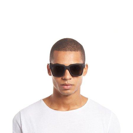 Unisex Le Specs Weekend Riot Glasses - Black Rubber