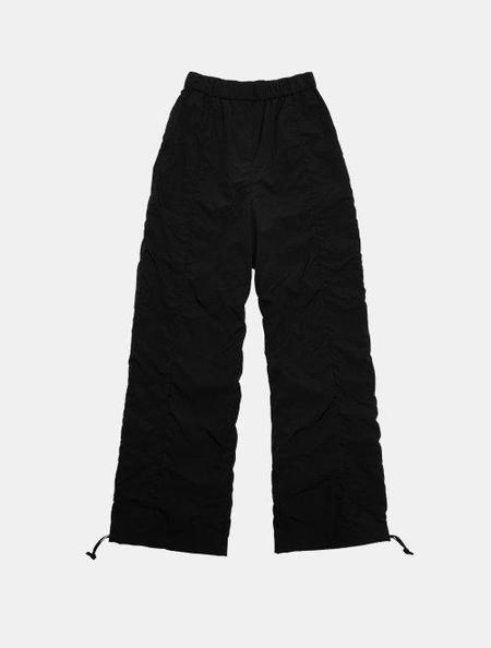 AMOMENTO Shirred Pants - Black