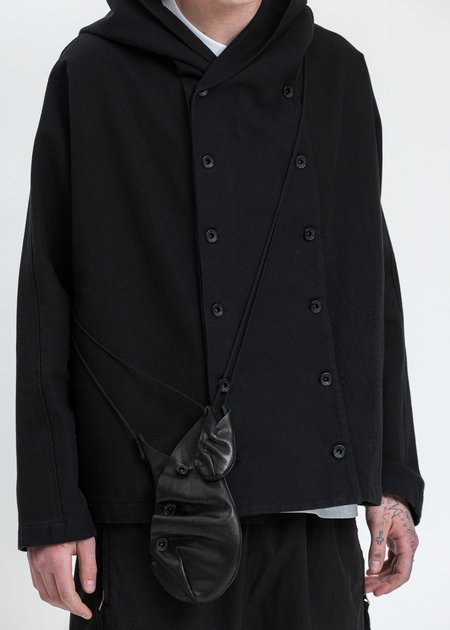 Hyein Seo Leather Pocket Bag - Black