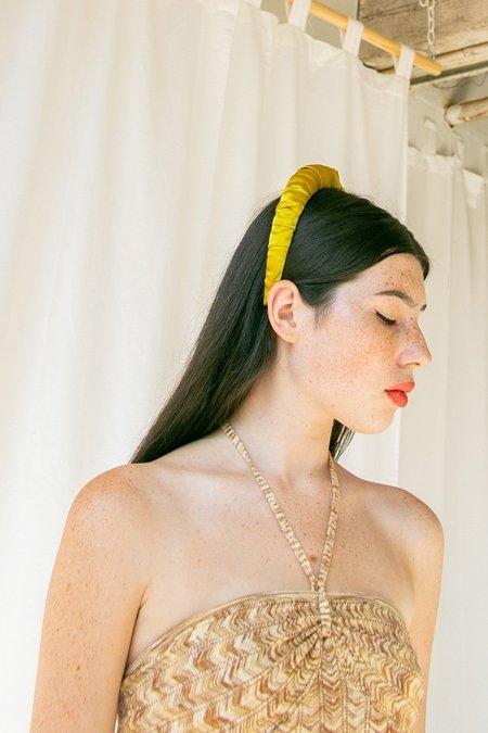 No Wallflower Project Ruffle Headband - Chartreuse