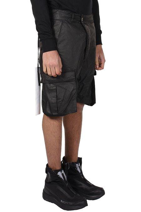 11 by Boris Bidjan Saberi Coated Shorts - Black