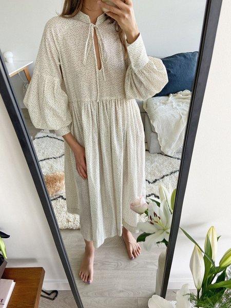 BRONZE AGE HOUSE DRESS - PURPLE FLORAL