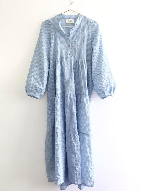 Pietsie San Pancho Dress - Pale Blue Stripe