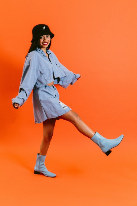 About Arianne Marion Boots - Sky Bue