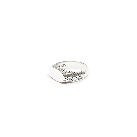 Maple Nugget Slim  Ring - Silver 925