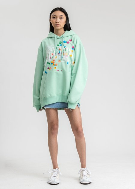 Doublet Not Anniversary Embroidery Hoodie - Mint