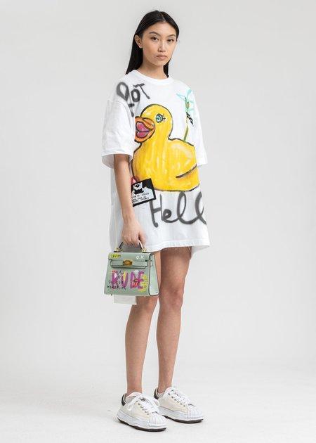 Guernika White Paint T-Shirt - Rubber Duck