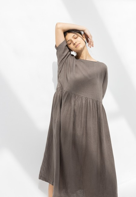 Black Crane Tradi Dress - Grey