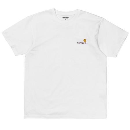 CARHARTT WIP S/S American Script T-Shirt - White