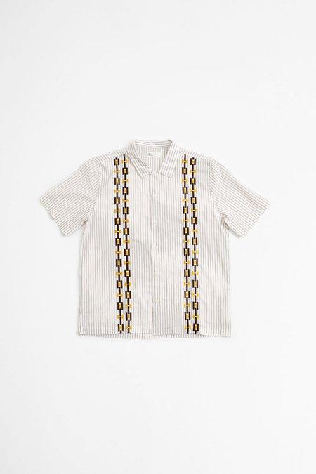 Universal Works Road Shirt - Chelsea Stripe Ecru