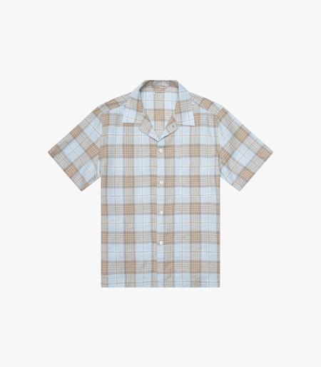 Knickerbocker SS  Tall Pocket Camp Shirt - Malibu Plaid Tan
