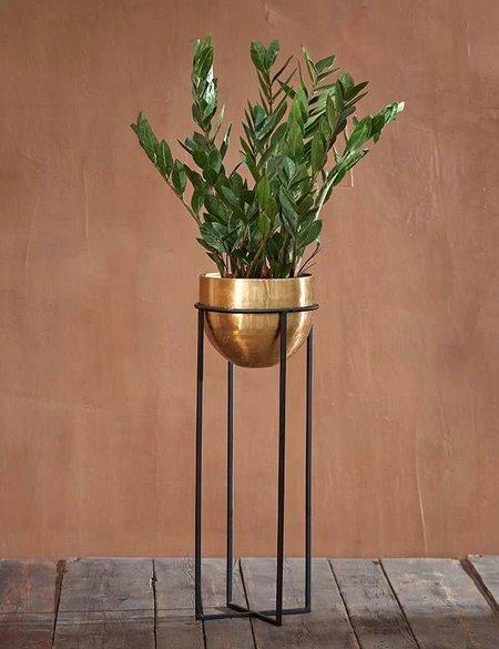 Nkuku Atsu Large Planter Stand - Antique Brass