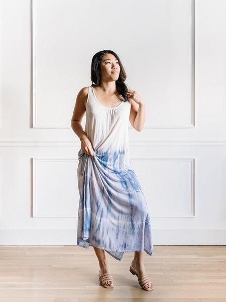 Mystree Dip Dye Dress - White/Blue