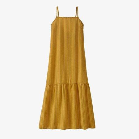 Patagonia Garden Island Tiered Dress - Hawk Gold