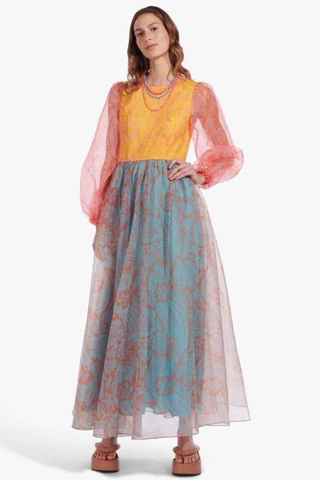 STAUD Viola Dress - Floral Wave Multi