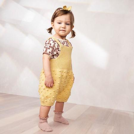 kids Misha & Puff Baby Popcorn Romper - Straw Yellow