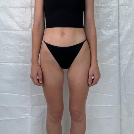 Nu Swim Cleo String Bikini Bottom - Black