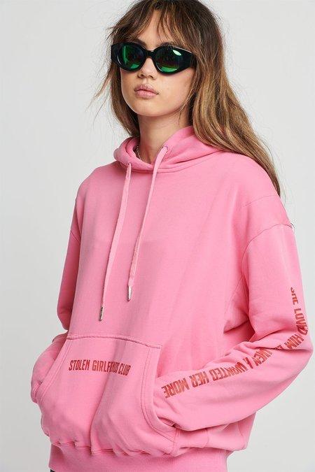 STOLEN GIRLFRIENDS CLUB Robo Love Hoodie Sweater - Pink