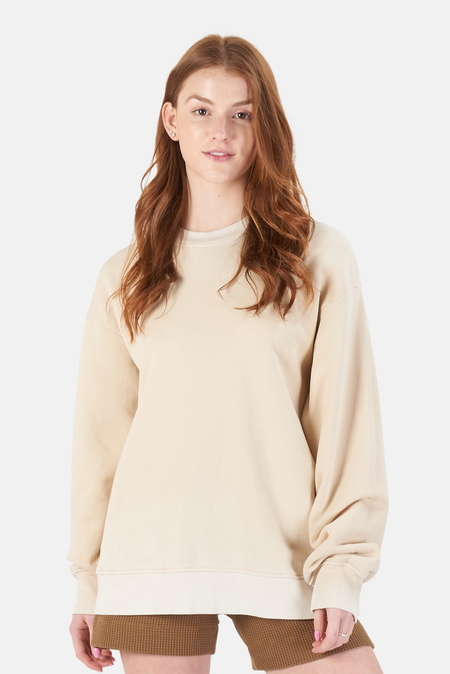 Cotton Citizen Brooklyn Oversized Crew Sweater - Vintage Oatmeal