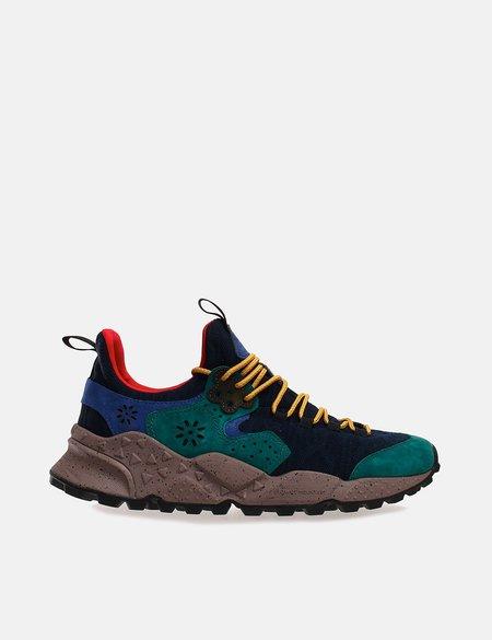 Flower Mountain Koetsu Socks Nylon and Suede sneakers - Navy Blue