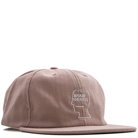 BRAIN DEAD HERRINGBONE LOGO HAT / WASHED PINK