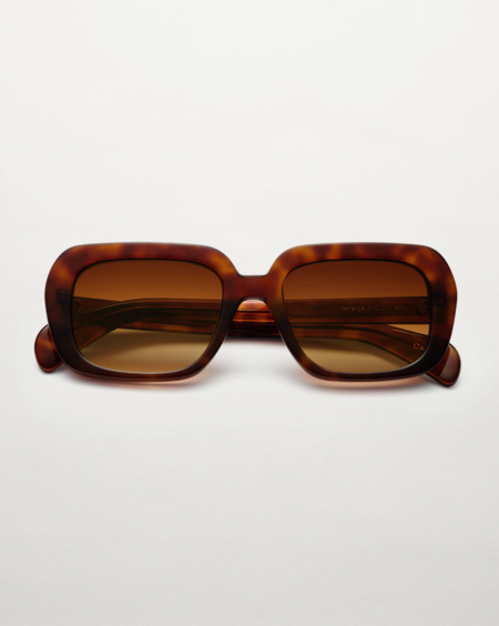 CHIMI Rectangle Maple Sunglasses - Honey Brown Tortoise