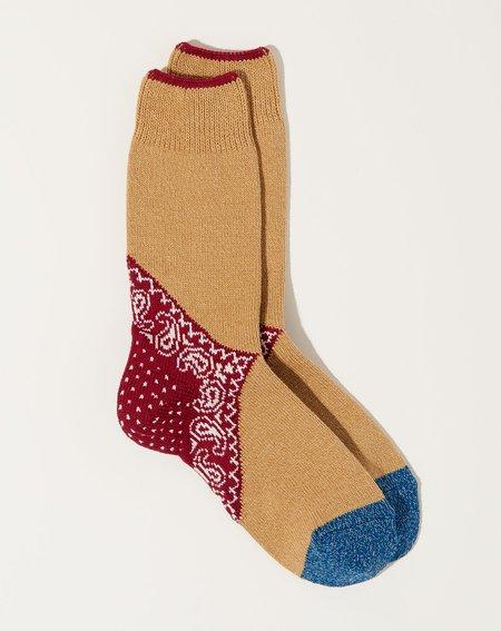 Kapital 96 Yarns Paisley Bandana Socks - Red