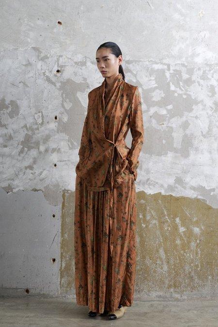 Uma Wang Kilt Jacket - Dark Rose