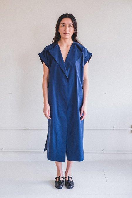 SEYA CERAMIC DRESS -  BLUE SILKY COTTON