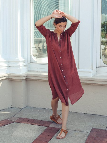 Mille Jasmine Dress - Canelle Gauze