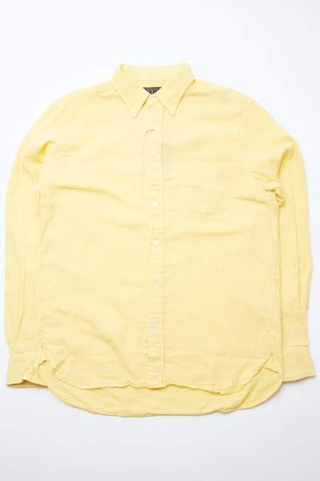 Beams Plus B.D. Double Gauze Shirt - Yellow