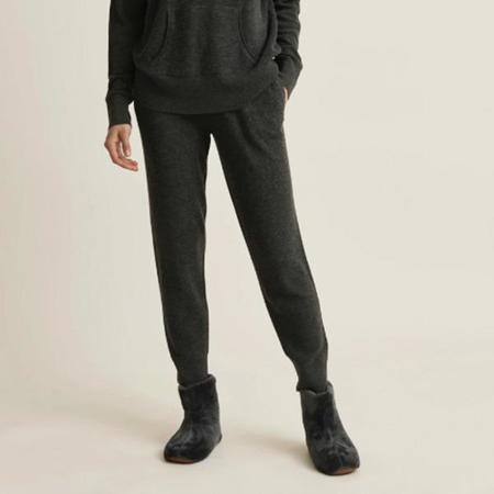 Skin Marlowe Wool Blend Jogger Pant - Dark Charcoal