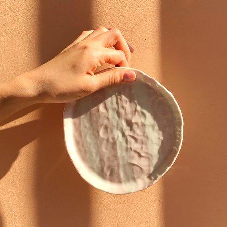 Isabel Halley Ribbon Plate - Blush Stripe