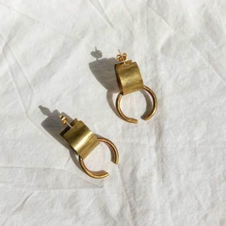 Edas Cleo Earrings - brass/sterling silver