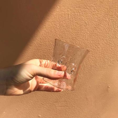 Asp and Hand Handblown Savoring Glass