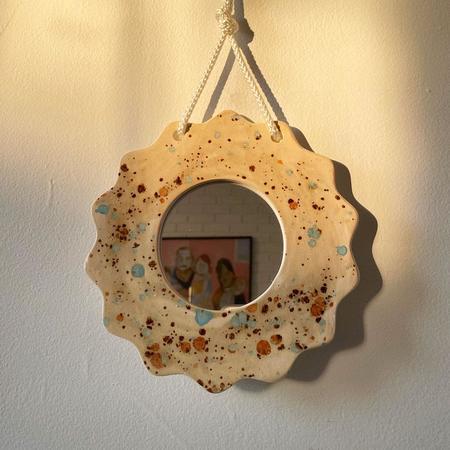 mansi shah Splatter Wall Mirror - Neutral