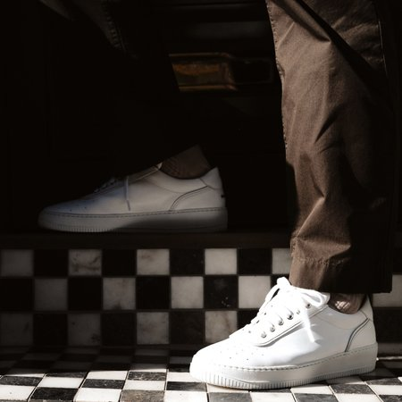 Unseen Footwear Clement Leather Tonal Sneaker - White