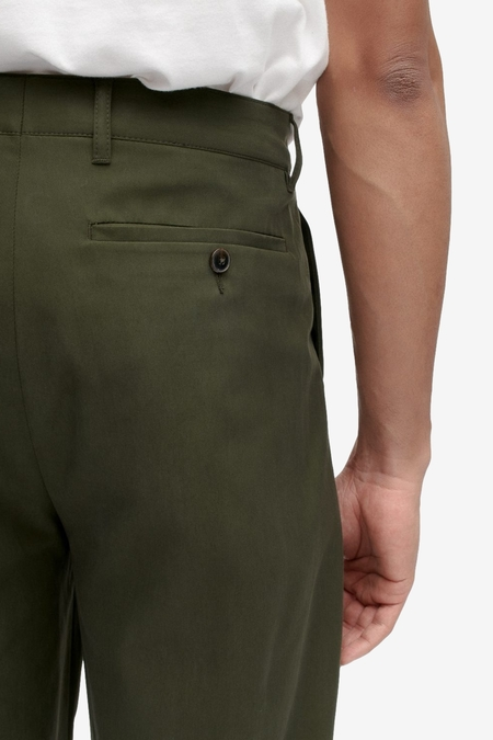 A Kind of Guise Pleated Wide Trousers - Misty Moss