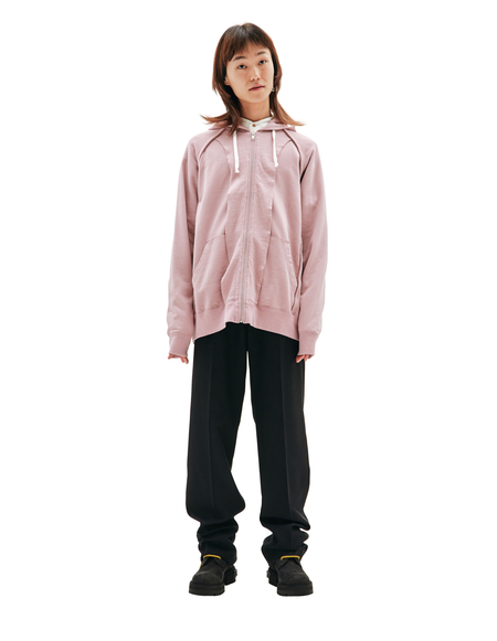 Undercover Zipped Hoodie sweater - Pink