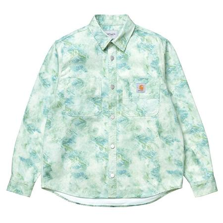 CARHARTT WIP L/S Marble Shirt - Wave Stone Washed