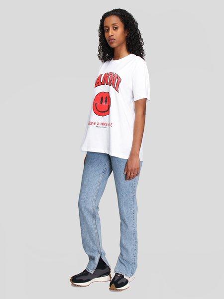 Ganni Mid Waist Slim Jeans - Washed Indigo